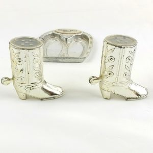 Vintage Cowboy boots salt and pepper shakers